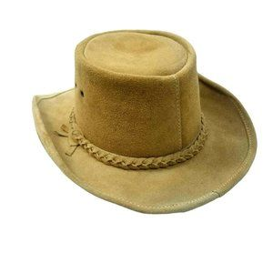 The Great Australian Hat Co. Mens Leather Hat-M